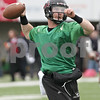 Rob Winner – rwinner@shawmedia.com<br /> <br /> Northern Illinois quarterback Jordan Lynch looks to pass during practice at Huskie Stadium in DeKalb, Ill., Wednesday, March 27, 2013.