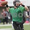 Rob Winner – rwinner@shawmedia.com<br /> <br /> Northern Illinois quarterback Jordan Lynch looks to pass during practice at Huskie Stadium in DeKalb, Ill., Wednesday, March 27, 2013.
