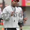 Rob Winner – rwinner@shawmedia.com<br /> <br /> Northern Illinois cornerbacks coach Kelvin Sigler during practice at Huskie Stadium in DeKalb, Ill., Wednesday, March 27, 2013.
