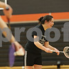 Rob Winner – rwinner@shawmedia.com<br /> <br /> Jaci Nguyen (right), a senior, is seen laughing during badminton practice at DeKalb High School on Thursday, March 21, 2013.