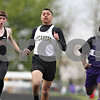 Rob Winner – rwinner@shawmedia.com<br /> <br /> Sycamore's Dion Hooker (center) finishes the 200-meter during Friday's preliminaries at the 2012 Gib Seegers Track and Field Classic in Sycamore.