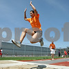 Rob Winner – rwinner@shawmedia.com<br /> <br /> Jasmine Brown practices the long jump and landings in DeKalb Friday, May 11, 2012. Brown has overcome a heart condition to qualify for state in the long and triple jumps.