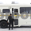 Kyle Bursaw — kbursaw@shawmedia.com<br /> <br /> A law enforcement official exits the Illinois State Police Command Unit stationed outside the University Police and Public Safety building at Northern Illinois University in DeKalb, Ill. on Wednesday, March 6, 2013.