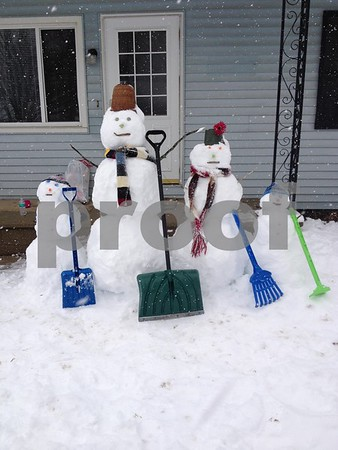 Burch family snowmen