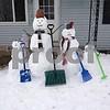 Burch family snowmen