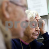 Kyle Bursaw – kbursaw@shawmedia.com<br /> <br /> Genoa resident Laverne Selman, 89, reacts as she and her husband Herbert (front) try to understand charges on their medical bills with from Debbie Beranek (not pictured), an information & assistance specialist for the Elder Care Services in DeKalb, Ill. on Wednesday, Feb. 27, 2013.