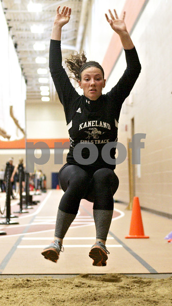 Monica Maschak - mmaschak@shawmedia.com<br /> Lauren Zick, for Kaneland, elongates her long jump during the Northern Illinois Big 12 Conference Girls Track and Field Championships at DeKalb High School on Friday, May 3, 2013.