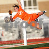 Monica Maschak - mmaschak@shawmedia.com<br /> DeKalb goalie Maddie Frye saves a ball from an attempted Sycamore free kick during the first half of a match on Tuesday, April 30, 2013. The Barbs beat the Spartans 1-0.
