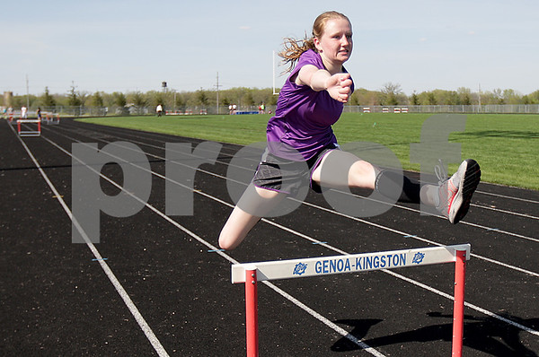 Monica Maschak - mmaschak@shawmedia.com<br /> Genoa-Kingston junior Brianna Kramer is looking to qualify for the IHSA Class 2A girls track state meet in the 300-meter low hurdles.