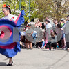Erik Anderson - For the Daily Chronicle<br /> A Cinco De Mayo dancer spins around while performing to the audience a folk dance during the 16th annual Cinco De Mayo Festival in downtown Sycamore behind Taxco restaurant on Sunday, May 5, 2013. The festival is open to the public Sunday, May 5th from 1pm-9pm.