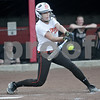 Monica Maschak - mmaschak@shawmedia.com<br /> Hannah Walter, for DeKalb, swings her bat in a rivalry game at Northern Illinois University on Tuesday, May 7, 2013. The Barbs beat the Spartans 4-3.