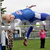 Monica Maschak - mmaschak@shawmedia.com<br /> Genoa-Kingston's Danielle Neisendorf clears the bar at a height of 4 feet, 10 inches at a Class 2A Burlington Central Sectional track meet on Friday, May 10, 2013.