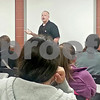 Felix Sarver - fsarver@shawmedia.com<br /> Joshua Walker, officer for Choosing Life and Ending Abuse Now (CLEAN) Slate Alumni Association, spoke to students at the DeKalb High School Friday about his past addiction to drugs and the crimes he committed to feed his addiction. Five members of the CLEAN Slate Alumni Association visited the high school for the first time to warn against drug abuse by talking about their personal struggles with drug addiction and recovery.