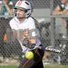 Monica Maschak - mmaschak@shawmedia.com<br /> Rachel Johnson makes a hit in a game at Kaneland High School on Thursday, May 16, 2013. The Knights shut out the Barbs 4-0.