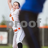 Erik Anderson - For the Daily Chronicle<br /> Dekalb's Katie Kowalski pitches to Burlington Central batters during late gameplay between the match up of DeKalb and Burlington Central at Dekalb High School on Monday, May 13, 2013. Burlington Central defeated DeKalb 5-3.
