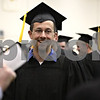 Rob Winner – rwinner@shawmedia.com<br /> <br /> Northern Illinois University College of Engineering and Engineering Technology graduate Nick Skuban socializes with his peers inside Victor E. Court before commencement on Saturday, May 11, 2013, at the Convocation Center in DeKalb, Ill.