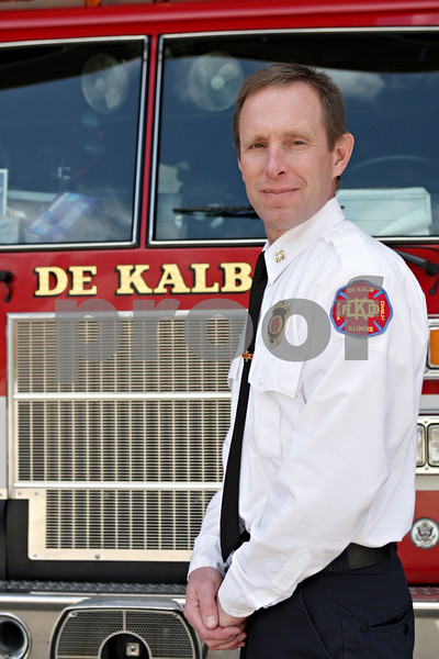 Rob Winner – rwinner@shawmedia.com<br /> <br /> Fire Chief Eric Hicks at DeKalb Station 1 on Wednesday, April 24, 2013.<br /> <br /> DeKalb, Ill.
