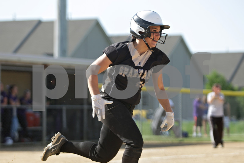 Rob Winner – rwinner@shawmedia.com<br /> <br /> Sycamore batter Bobbie Gable runs to first base after a hit up the middle in the bottom of the second inning during the Class 3A Sycamore Regional quarterfinals.