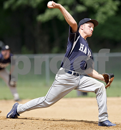 Monica Maschak - mmaschak@shawmedia.com<br /> Hiawatha's Tyler Burger throws a pitch in a Class A Hinckley-Big Rock Regional finals game at Kenny Field on Saturday, May 18, 2013. Hiawatha won 6-5.