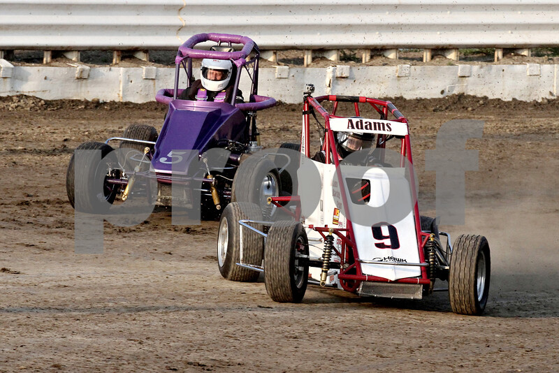 Gary L. Gates for Shaw Media<br /> <br /> Midget car driver Bob Adams loses control around turn four during qualifications on Saturday at the Sycamore Speedway in Maple Park, Ill.<br /> <br /> Saturday, May 18, 2013<br /> Maple Park, Ill.