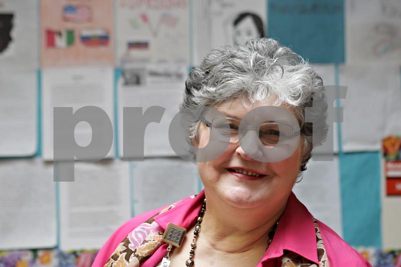 Rob Winner – rwinner@shawmedia.com<br /> <br /> Linda Fulton is seen outside her classroom at Huntley Middle School in DeKalb, Ill., Monday, April 29, 2013.