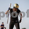 Rob Winner – rwinner@shawmedia.com<br /> <br /> Sycamore batter Jasmyne Taylor hops after being hit by a pitch in the bottom of the fourth inning during the Class 3A Sycamore Regional quarterfinals.