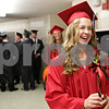 Rob Winner – rwinner@shawmedia.com<br /> <br /> Ellen Witte practices her entrance into the gymnasium before Indian Creek's commencement in Shabbona, Ill., Sunday, May 19, 2013.