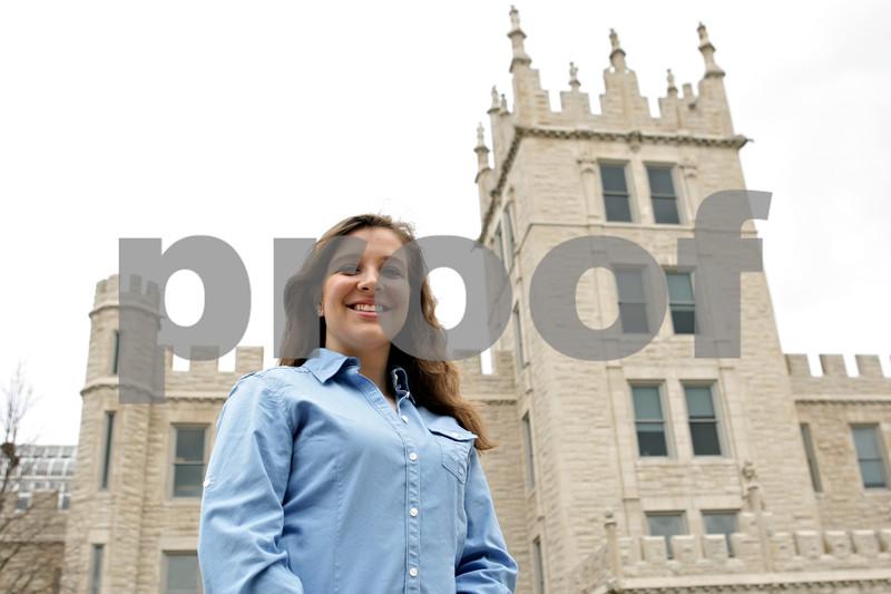 Rob Winner – rwinner@shawmedia.com<br /> <br /> Junior Sarah Stuebing, who studies biology at Northern Illinois University, is seen outside Altgeld Hall on the NIU campus in DeKalb, Ill., Thursday, April 25, 2013.