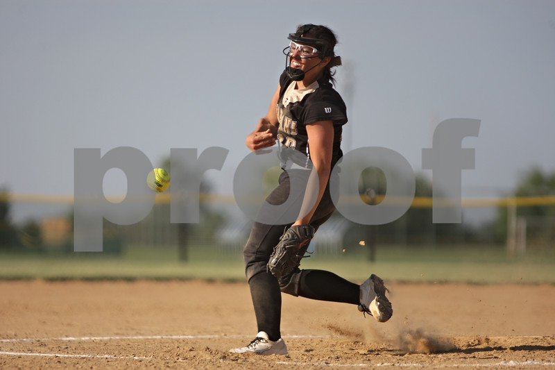 Rob Winner – rwinner@shawmedia.com<br /> <br /> Sycamore's Abby Foulk delivers a pitch in the top of the fourth inning during the Class 3A Sycamore Regional quarterfinals.