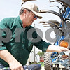 Rob Winner – rwinner@shawmedia.com<br /> <br /> Paul Taylor of Esmond, Ill. prepares some field machinery on his farm on Tuesday, April 30, 2013.