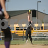 Rob Winner – rwinner@shawmedia.com<br /> <br /> Sycamore second baseman Claire Koertner catches a ball for the final out of the top of the first inning during the Class 3A Sycamore Regional quarterfinals.