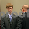 Rob Winner – rwinner@shawmedia.com<br /> <br /> Patrick W. Merrill, of DeKalb, formally pleaded not guilty to hazing charges Tuesday, May 28, 2013 in DeKalb County Court in Sycamore, Ill.  Merrill was secretary of Pi Kappa Alpha fraternity in November when freshman pledge David Bogenberger died during a pledge-related drinking party at the fraternity.