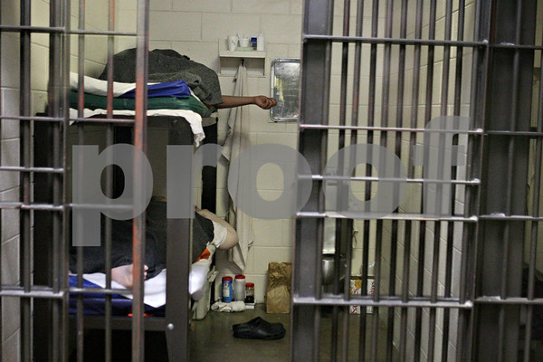 Rob Winner – rwinner@shawmedia.com<br /> <br /> Male inmates at the DeKalb County jail in Sycamore, Ill. are seen sleeping on Tuesday, May 28, 2013.