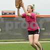 Rob Winner – rwinner@shawmedia.com<br /> <br /> DeKalb's Morgan Newport catches a fly ball during practice in DeKalb, Ill., Tuesday, May 28, 2013.