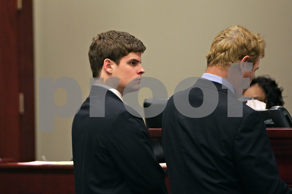 Rob Winner – rwinner@shawmedia.com<br /> <br /> James P. Harvey, of DeKalb, formally pleaded not guilty to hazing charges Tuesday, May 28, 2013 in DeKalb County Court in Sycamore, Ill.  Harvey was vice president of Pi Kappa Alpha fraternity in November when freshman pledge David Bogenberger died during a pledge-related drinking party at the fraternity.