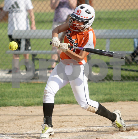 Monica Maschak - mmaschak@shawmedia.com<br /> Sabrina Killeen swing the bat in the sixth inning of the Class 4A Prairie Ridge Sectional semifinals against Harlem on Wednesday, May 29, 2013. The Barbs made a comeback to win 4-3.