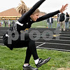 Monica Maschak - mmaschak@shawmedia.com<br /> Sycamore's Hannah Gross flings herself into the air in the long jump event at a Class 2A Burlington Central Sectional track meet on Friday, May 10, 2013.