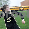 Monica Maschak - mmaschak@shawmedia.com<br /> Sycamore's Sarah Grant winds up to fling her discus at a Class 2A Burlington Central Sectional track meet on Friday, May 10, 2013.