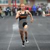 Monica Maschak - mmaschak@shawmedia.com<br /> Ayslin Nachman runs in the preliminary 100-meter dash at a Class 3A Belvidere North Sectional on Thursday, May 9, 2013.