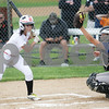 Monica Maschak - mmaschak@shawmedia.com<br /> Sabrina Killeen eyes a high ball into Warren's catcher's mitt in the first inning of the Class 4A Prairie Ridge Sectional final on Saturday, June 1, 2013. DeKalb lost 6-1.
