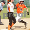 Monica Maschak - mmaschak@shawmedia.com<br /> DeKalb's Morgan Newport makes it to second base and eyes third base against Harlem in the seventh inning of the Class 4A Prairie Ridge Sectional semifinals on Wednesday, May 29, 2013. The Barbs made a comeback to win 4-3.