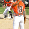 Monica Maschak - mmaschak@shawmedia.com<br /> Morgan Newport makes a play to Haley Tadd at first base against Harlem in the sixth inning of the Class 4A Prairie Ridge Sectional semifinals on Wednesday, May 29, 2013. The Barbs made a comeback to win 4-3.