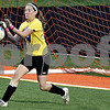 Monica Maschak - mmaschak@shawmedia.com<br /> Amanda Cook makes one of 15 saves against Freeport during the Class 2A Freeport Sectional semifinals in Freeport, Ill., Tuesday, May 22, 2013. Sycamore lost 8-1.