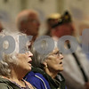 "Rob Winner – rwinner@shawmedia.com<br /> <br /> Sycamore residents and friends Susan Lloyd (left) and Myrna Egerman sing ""God Bless America"" during a Memorial Day service at the Sycamore Veterans Home.<br /> <br /> Sycamore, Ill.<br /> Monday, May 27, 2013"