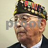 Rob Winner – rwinner@shawmedia.com<br /> <br /> World War II veteran Donald Schoo, of DeKalb, listens while being honored at the Sycamore Veterans Home on Memorial Day.<br /> <br /> Sycamore, Ill.<br /> Monday, May 27, 2013