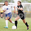 Monica Maschak - mmaschak@shawmedia.com<br /> Alyssa Maillefer dribbles down the field in the Class 2A Sycamore Regional finals against Burlington on Friday, May 17, 2013. The Spartans won 1-0.