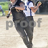 Monica Maschak - mmaschak@shawmedia.com<br /> Jordyn Shultz runs off of first base after getting tagged out in the Class 3A Sycamore Regional semifinals against Burlington Central on Tuesday, May 21, 2013. The game was called after six innings when the Spartans were down 11-1.