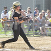 Monica Maschak - mmaschak@shawmedia.com<br /> Jordyn Shultz swings at the ball in the Class 3A Sycamore Regional semifinals against Burlington Central on Tuesday, May 21, 2013. The game was called after six innings when the Spartans were down 11-1.