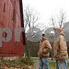 Rob Winner – rwinner@shawmedia.com<br /> <br /> Owner Daren Friesen (right) and manager Jacob Mueller discuss work that needs to be completed at Stonehouse Farm in Earlville, Ill., Tuesday, Nov. 5, 2013. Friesen purchased the property earlier this year and is working to get the buildings up to code.