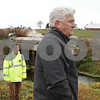 Rob Winner – rwinner@shawmedia.com<br /> <br /> Paul Rasmussen (front) and Dan McNichol are seen at the site of the August 2008 bridge collapse on Keslinger Road in Afton Township on Wednesday, Nov. 6, 2013.